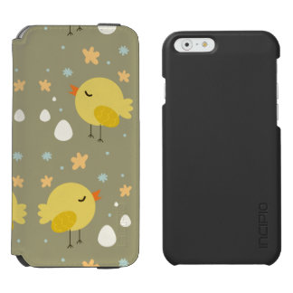 Cute easter chicks and little eggs pattern incipio watson™ iPhone 6 wallet case