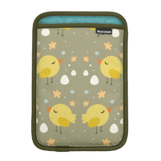 Cute easter chicks and little eggs pattern iPad mini sleeve