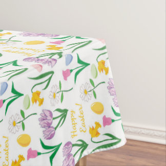 Cute Easter Floral pattern Holiday tablecloth