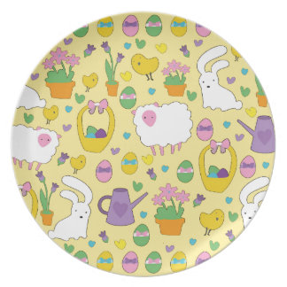 Cute Easter pattern Plates