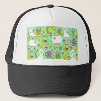 Cute Easter pattern Trucker Hat