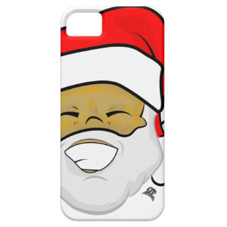 Cute Ebony Santa Smile Christmas iPhone 5 Case