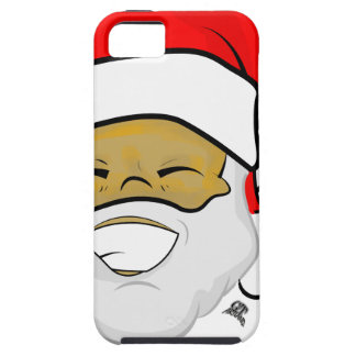 Cute Ebony Santa Smile Christmas iPhone 5 Cover