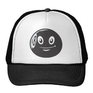 Cute Eight 8 Ball Billiard Cartoon Hats