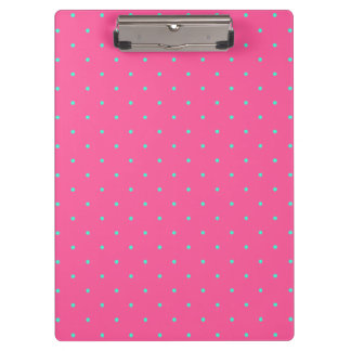 cute elegant baby pink mint polka dots pattern clipboards