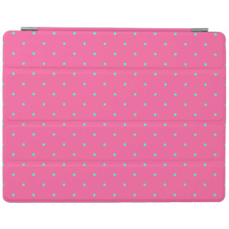 cute elegant baby pink mint polka dots pattern iPad cover