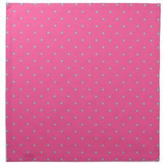 cute elegant baby pink mint polka dots pattern napkin