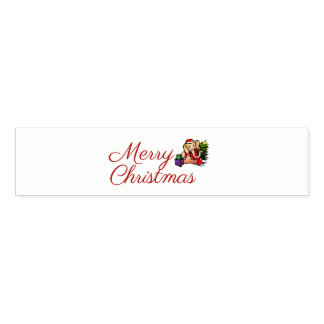 Cute Elegant Santa Elephant Merry Christmas Napkin Band