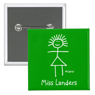 Cute Elementary Teacher Name Tag 15 Cm Square Badge