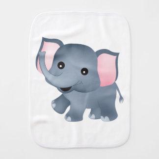 Cute Elephant Baby Burp Cloths