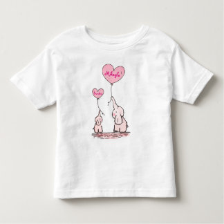 Cute Elephant  Baby Hold Balloons Toddler T-Shirt