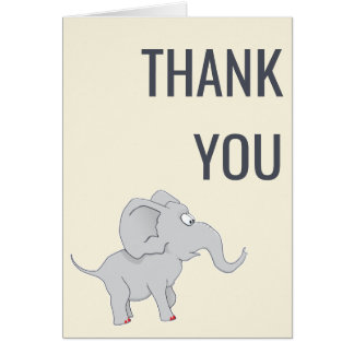 Cute Elephant | Baby Shower New Mother Thank You Card
