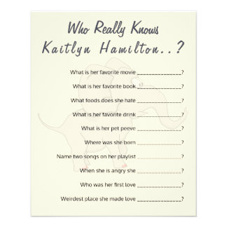 Cute Elephant | Baby Shower Question Game Humor Flyer
