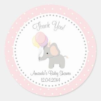 Cute Elephant Baby Shower Sticker