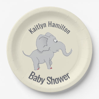 Cute Elephant | Baby Shower To Honor the New Mom Paper Plate