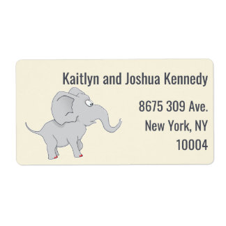 Cute Elephant | Baby Shower To Honor the New Mom Shipping Label