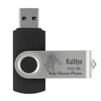 Cute Elephant | Baby Shower To Honor the New Mom USB Flash Drive