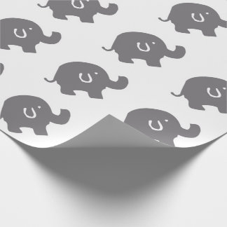 Cute Elephant Baby Shower Wrapping Paper