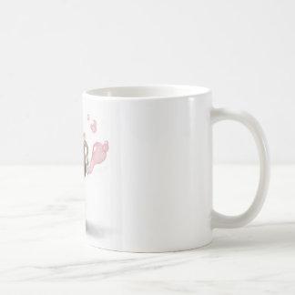 cute elephant blowing pink bubbles coffee mug