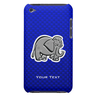 Cute Elephant; Blue iPod Touch Case-Mate Case