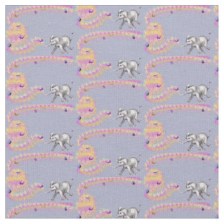 Cute Elephant-Butterfly Fabric - Fanti