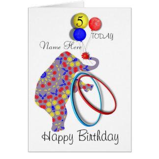 Cute Elephant Child's Personalised Birthday Card
