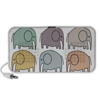 Cute Elephant Doodle Notebook Speakers