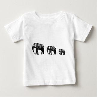 Cute Elephant Family silhouette design Baby T-Shirt