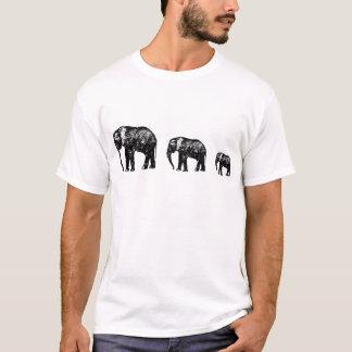 Cute Elephant Family silhouette design T-Shirt