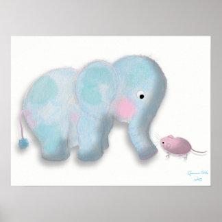 Cute elephant Illustration by Gemma Orte Designs. Poster