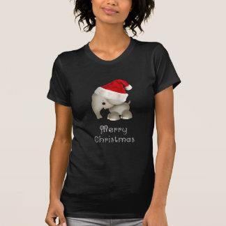 Cute Elephant in Santa Hat Tee Shirt