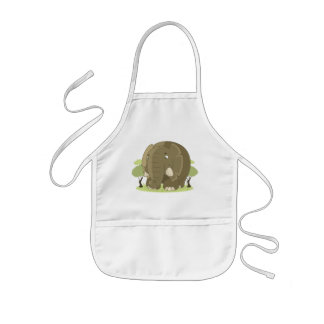 Cute elephant kids apron