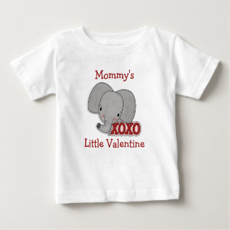 Cute Elephant Mommy's Valentine Baby T-Shirt