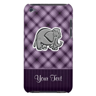 Cute Elephant; Purple iPod Touch Cases