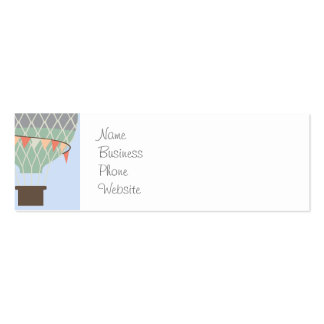 Cute Elephant Riding Hot Air Balloons Rising Business Card Template