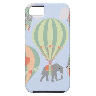 Cute Elephant Riding Hot Air Balloons Rising iPhone 5 Cover