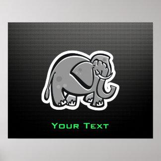 Cute Elephant; Sleek Poster