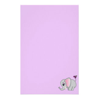 Cute Elephant Stationery