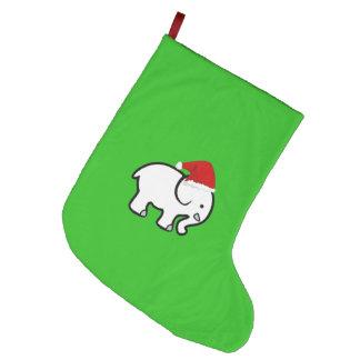 Cute Elephant Stocking Happy Holiday Home Joy Large Christmas Stocking