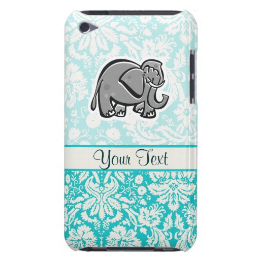 Cute Elephant; teal iPod Touch Case