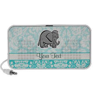 Cute Elephant; teal Notebook Speakers