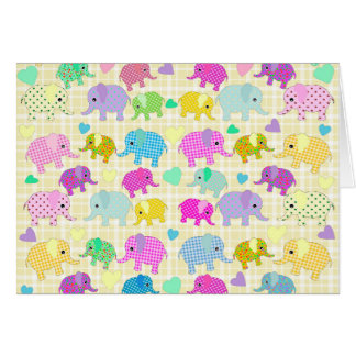 Cute elephants card