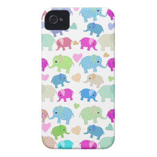 Cute elephants Case-Mate iPhone 4 cases