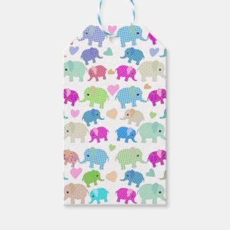 Cute elephants gift tags