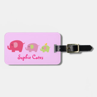 Cute Elephants Girls Bag Tag