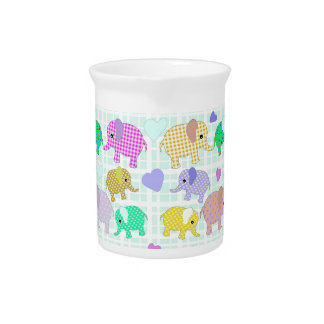 Cute elephants pitcher
