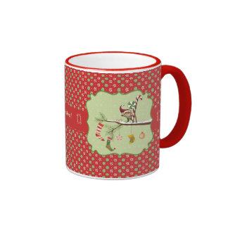 Cute Elf and Christmas Socks Coffee Mugs