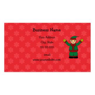 Cute elf business card templates