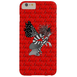 Cute Elf In Love Red Background Barely There iPhone 6 Plus Case