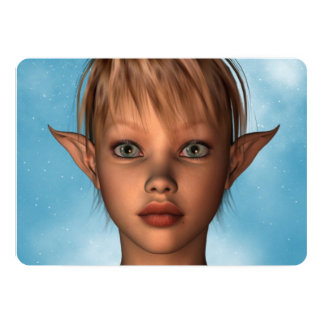 "Cute Elf 5"" X 7"" Invitation Card"